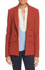 Veronica Beard   x27 Peninsula  x27  Faux Double Breasted Blazer at Nordstrom