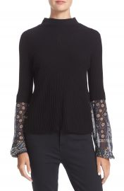 Veronica Beard  Moon  Mixed Media Sweater at Nordstrom