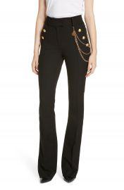 Veronica Beard Alair Chain Detail Sailor Trousers at Nordstrom