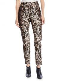 Veronica Beard Lago Leopard-Print Straight-Leg Trousers at Neiman Marcus