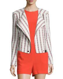 Veronica Beard Mara Striped Tweed Jacket at Neiman Marcus