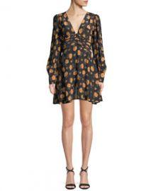 Veronica Beard Marion Long-Sleeve Floral Mini Dress at Last Call