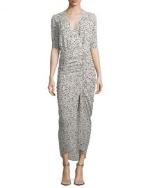 Veronica Beard Mariposa Wrap Silk Midi Dress   Neiman Marcus at Neiman Marcus