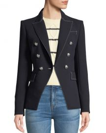Veronica Beard Miller Double-Breasted Blazer Jacket   Neiman Marcus at Neiman Marcus