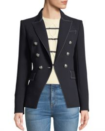 Veronica Beard Miller Double-Breasted Blazer Jacket at Neiman Marcus