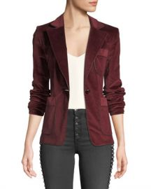 Veronica Beard Rosalie One-Button Corduroy Blazer at Neiman Marcus