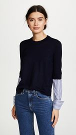 Veronica Beard Roscoe Mixed Media Sweater at Shopbop