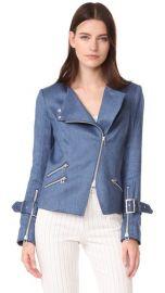 Veronica Beard Sienna Collarless Moto Jacket at Shopbop