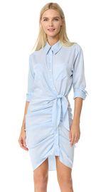 Wornontv Dj S Blue Ruched Shirtdress On Fuller House