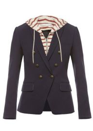 Veronica Beard Striped Captain Jacket at Elizabeth Charles