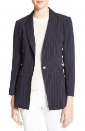 Veronica Beard Taylor Lace-Up Pinstripe Blazer at Nordstrom