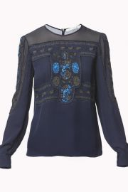 Veronica Beard Tobie Blouse at Shoptiques
