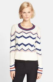 Veronica Beard and39Kindlingand39 Pointelle Stitch Stripe Sweater at Nordstrom