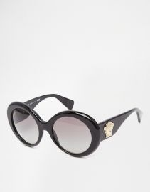 Versace  Versace Round Sunglasses at Asos
