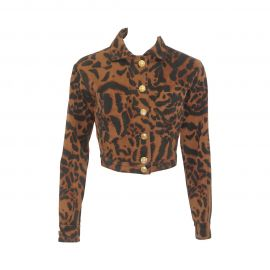 Versace Animal Printed Jacket at 1st Dibs