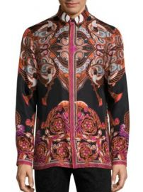 Versace Collection - Bold Ethnic Graphic Silk Shirt at Saks Fifth Avenue