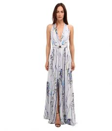 Versace Collection Graphic Print Maxi Dress VioletStampa at 6pm