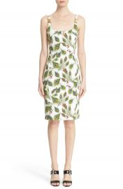 Versace Collection Peacock Print Sheath Dress at Nordstrom