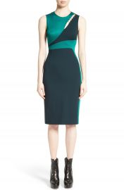 Versace Collection Staple Detail Cutout Dress at Nordstrom