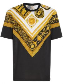 Versace Cornici Print T Shirt at Farfetch