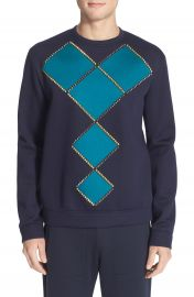 Versace Geometric Studded Sweatshirt at Nordstrom