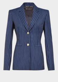 Versace Pin Stripe Wool Blaze at Versace