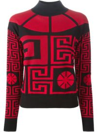 Versace and39greekand39 Sweater With A Cut Out Detail - Luisa Boutique at Farfetch