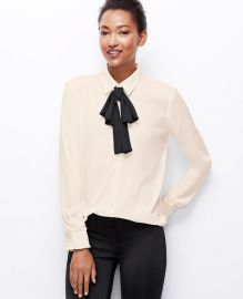 Versatile bow blouse at Ann Taylor