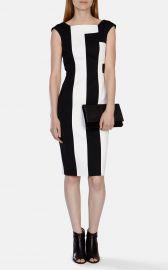 Vertical Stripe Panelled Dress at Karen Millen