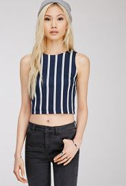 Vertical Striped Crop Top  Forever 21 - 2000053970 at Forever 21