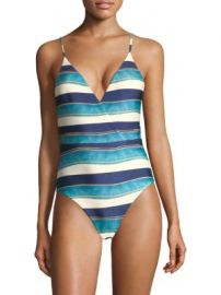 ViX by Paula Hermanny - One-Piece San Andres Striped Swimsuit at Saks Fifth Avenue