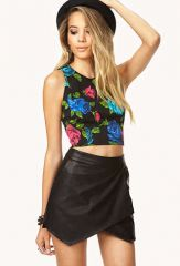 Vibrant Floral Crop Top at Forever 21
