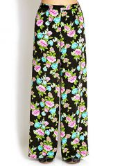 Vibrant Floral Wide Leg Pants at Forever 21