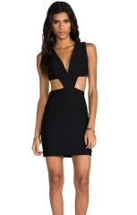 Vice Mini Dress in black at Revolve
