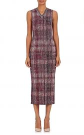Victoria Beckham Silk-Wool Jacquard-Knit Midi-Dress at Barneys
