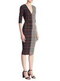 Victoria Beckham - Checked Wool Dress at Saks Fifth Avenue