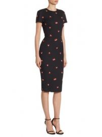 Victoria Beckham - Floral Fitted Dress at Saks Fifth Avenue