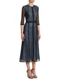 Victoria Beckham - Paneled Midi Dress at Saks Fifth Avenue