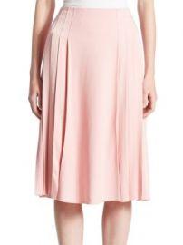 Victoria Beckham - Pleated Midi Skirt at Saks Fifth Avenue