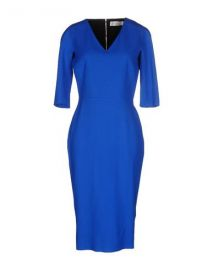 Victoria Beckham Blue Dress at Yoox