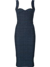 Victoria Beckham Fitted Tweed Dress at Farfetch