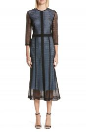 Victoria Beckham Lace Midi Dress at Nordstrom