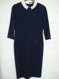 Victoria Beckham Navy Dress at eBay