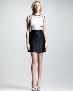 Victoria Beckham Organza Cutout Dress at Bergdorf Goodman