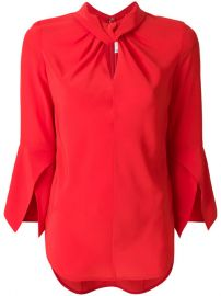 Victoria Beckham Ruched Collar Blouse  961 - Buy Online SS18 - Quick Shipping  Price at Farfetch