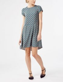 Victoria Dress in Jade Fans at Boden