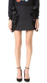 Victoria Victoria Beckham Flounce Trim Miniskirt at Shopbop