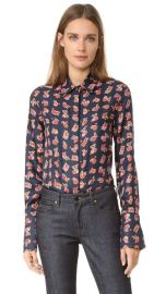 Victoria Victoria Beckham Printed Button Up Shirt at Shopbop