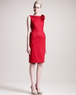 Victorias red rose dress at Neiman Marcus at Neiman Marcus