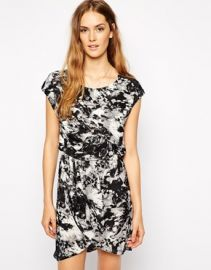 Vila  Vila Mono Print T-Shirt Dress at Asos